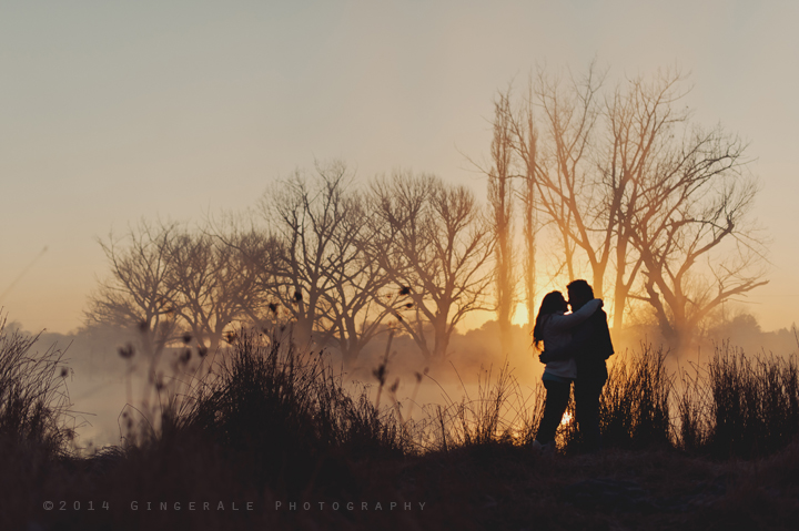 Winter morning couple shoot