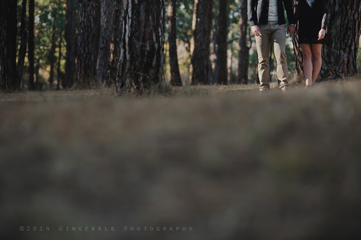 Couple shoot in woods